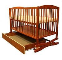 Детская кроватка -колыбель Klups Radek II с ящиком tik