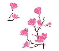 Интерьерная виниловая наклейка Цветы магнолии