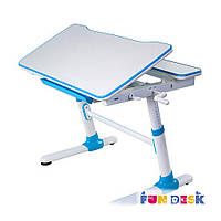 Парта Стол трансформер средний размер, синий + лампа, фото 1