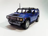 Автомодель Hummer H2 SUV синий, масштаб 1:27 2003