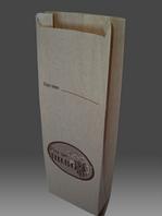 Пакет бумажный под пивную бутылку, бурый крафт 35гр/м2, 1+0