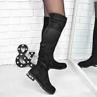 Сапоги женские ботфорты Diamonds Зима 3837, зимняя обувь