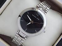 Кварцевые наручные часы Michael Kors серебристые черный циферблат с метками, фото 1