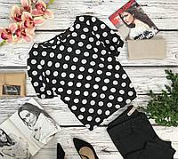 Кокетливая блуза с коротким рукавом New Look в крупный горошек  BL4503