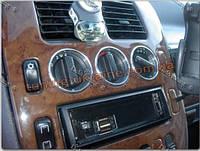 Алюминиевые рамки на ручки печки для MercedesVito W638 1996-1999