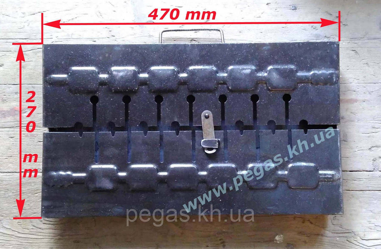 "Мангал чемодан на 8 шампуров (металл ""2"" мм)"