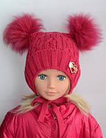 Зимняя шапка для девочки 4-6 лет