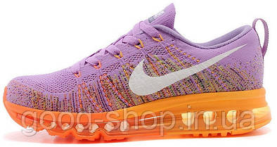 "Женские кроссовки Nike Air Flyknit Max 2014 ""Atomic purple/Total orange"""