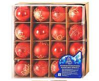 Набор  елочные шарики d=6см 16шт  8515/2