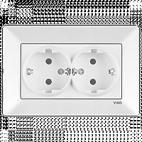 Розетка 2-я с заземлением белая Viko Meridian 90970056-WH