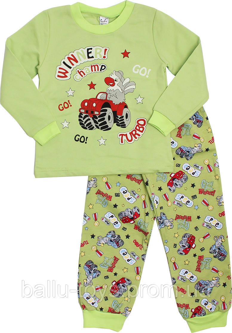 Байковая пижама для мальчика (2-6 лет)