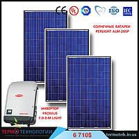 Комплект для сетевой солнечной электростанции мощностью 7 кВт