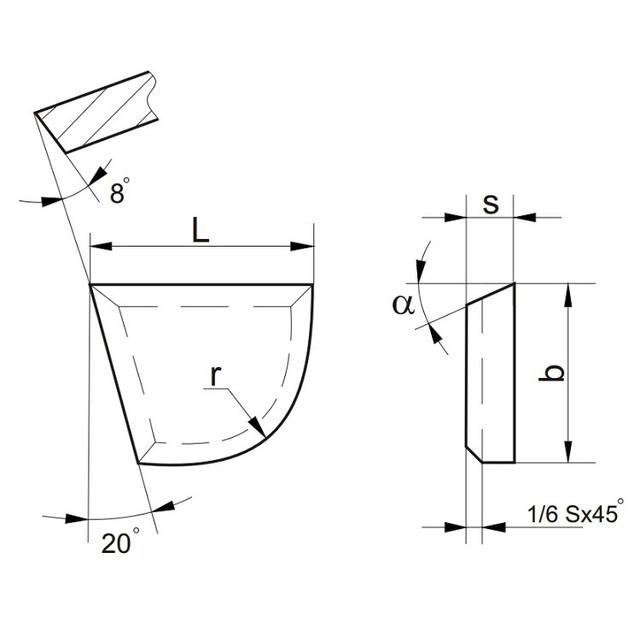 Пластины напайные т/с ТИП 06, 66