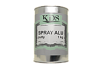Шпатлевка жидкая с алюминием KDS Spray Alu 1 кг