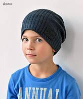 Мужская шапка на флисе, ОГ 55-58 см