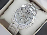 Кварцевые наручные часы Michael Kors с римскими цифрами, серебряные, фото 1