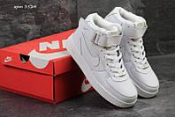 Чоловічі зимові кросівки Nike AirForce (3524) білі 6db45700c279a