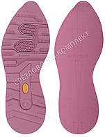 Резиновая подошва/след для обуви BISSELL BL-23, цв.#9 лиловый, размер 38-39