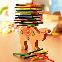 Настольная игра Башня Джанга Дженга Верблюд дерево