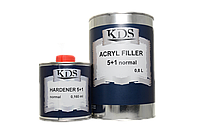 Грунт акриловый KDS Filler 5+1 Normal (серый) 0,8л