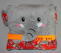 Детское одеяло-подушка велюр-хлопок 150х110см большое