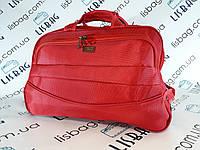 Сумка на колесах Маленька L (43л) красная (49*28*30) чемодан дорожная сумка валіза на колесах