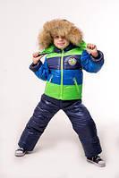 Детский зимний комбинезон и куртка для мальчика (рост 86-116 см)