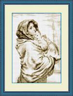 "010L Набор для рисования камнями(холст)""Мадонна с младенцем""LasKo"