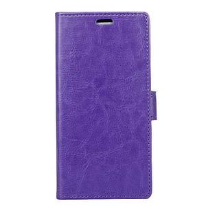 Чехол книжка для Xiaomi Mi A1 / Xiaomi Mi 5X боковой с отсеком для визиток, PREMIUM Гладкая кожа, фиолетовый