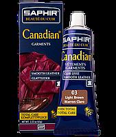 Крем - краска с защитными свойствами Saphir Canadian 75ml 03 СВЕТЛО-КОРИЧНЕВЫЙ