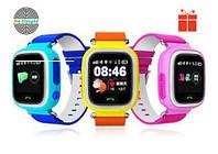 Оригинал! Умные часы Q100, Smart Baby Watch Q100 c GPS трекером