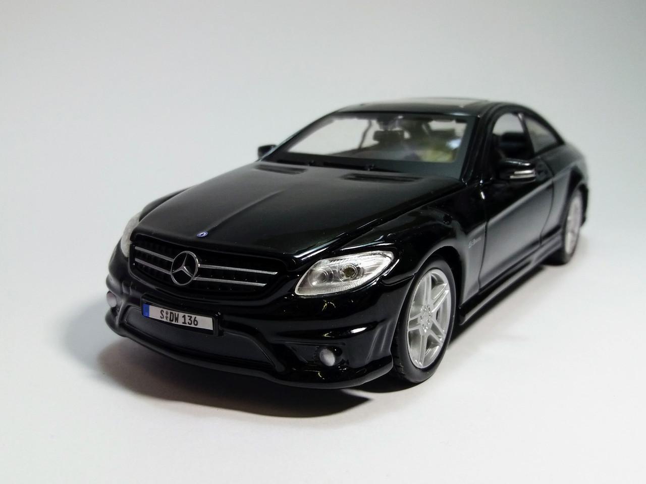 Автомодель Mercedes-Benz CL63 AMG (1:24) чёрный металлик MAISTO