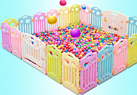 Манеж игровой разборной с игровой доской FunGame (без шариков)