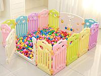 Детский манеж-заборчик с игровой доской FunGame (без шариков) 190х190х60 см, фото 1