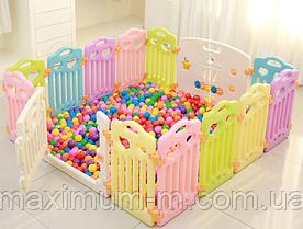 Детский манеж-заборчик с игровой доской FunGame (без шариков) 190х190х60 см