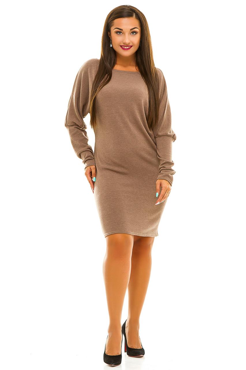 Ж5040 Платье  ангоровое с кружевом 50-52,54-56