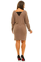 Ж5040 Платье  ангоровое с кружевом 50-52,54-56, фото 2
