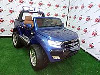 Детский электромобиль джип FORD RANGER арт.650 + MP4 (планшет) BLUE PAINT 2017, синий