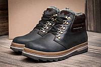Зимние ботинки Trike, мужские, на меху, натуральная кожа, черные