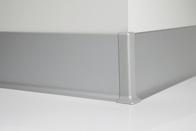 Металлический плинтус Profilpas Metal Line 90/5 анодироованный алюминий, серебро 10*50*2000 мм.
