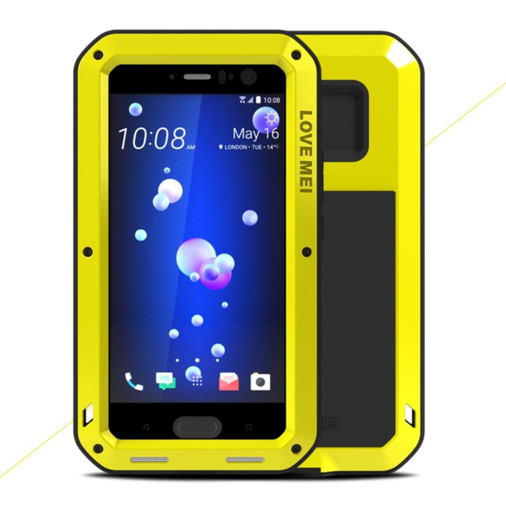 Чехол противоударный Love Mei для HTC U11 желтый