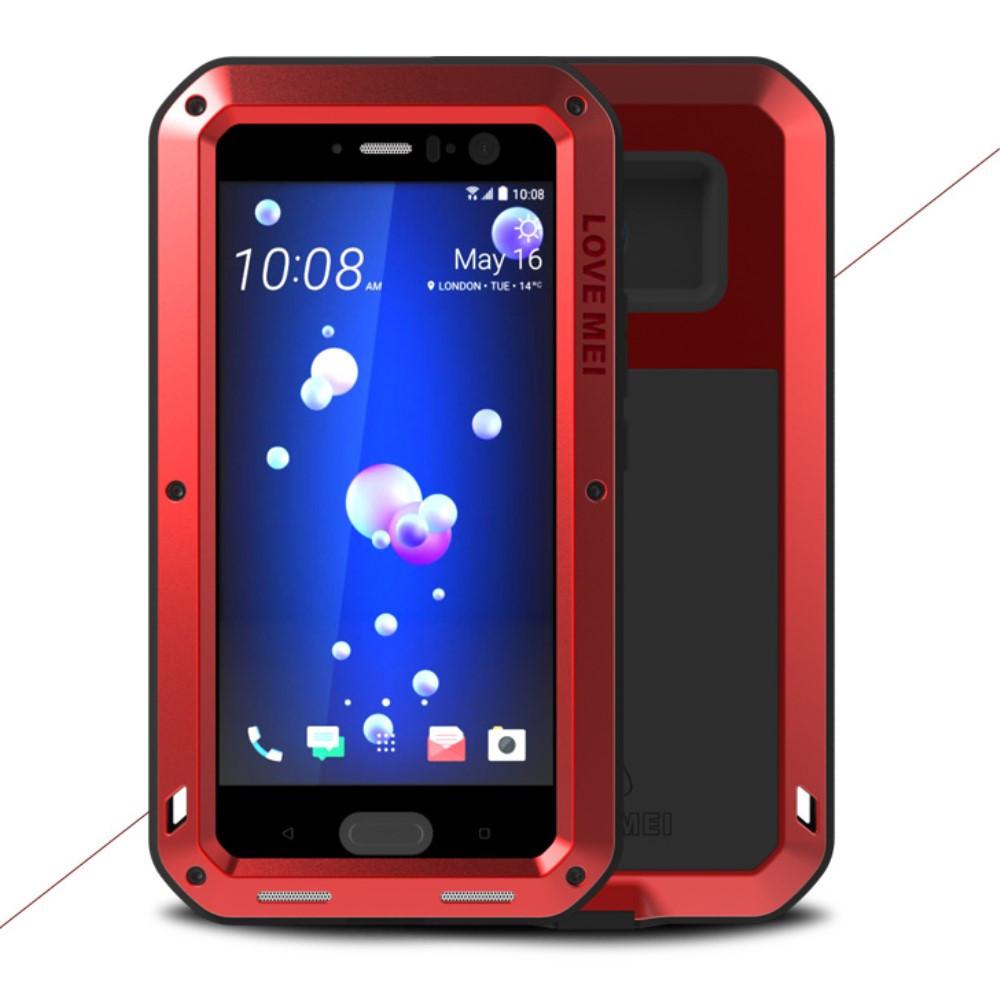 Чехол противоударный Love Mei для HTC U11 красный