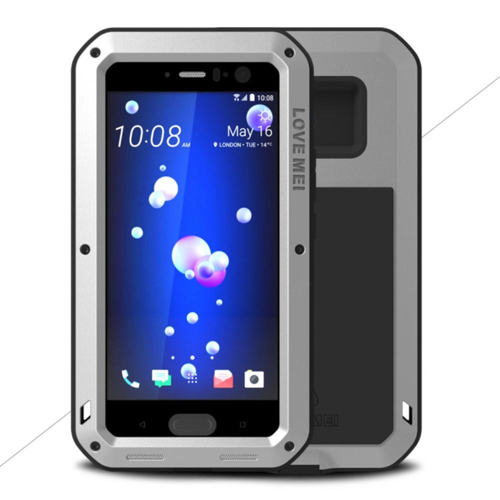 Чехол противоударный Love Mei для HTC U11 серый