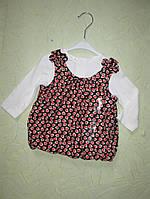 Блузка с длинным рукавом  для девочки 9 месяцев
