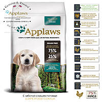Applaws Аплавс Puppy Small Medium Breed Chicken - Корм для Щенков Мелких,Средних Пород 7,5кг+подарок