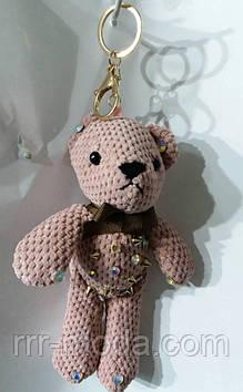 119 Модные женские аксессуары- брелоки мишки для сумок и ключей. Брелок 25 см