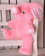 Мягкая игрушка розовый слон 80см
