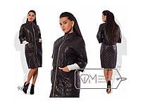 Пальто женское стеганное черное. Осень/весна