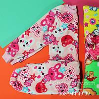 Детская теплая пижама для девочки вельсофт р.24,26,28,30,32,34,36,38,40