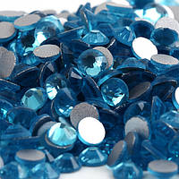Стрази Преміум холодної фіксації, Aquamarine (бірюза) SS20 . Ціна за 144 шт